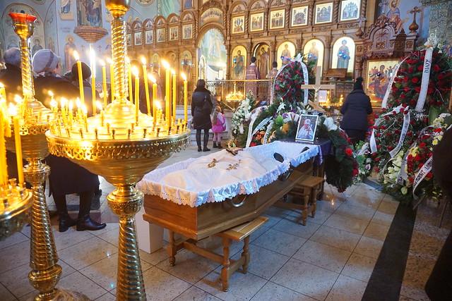 Panichida i czuwanie przed pogrzebem ś.p. o. mitrata Włodzimierza Cybulińskiego