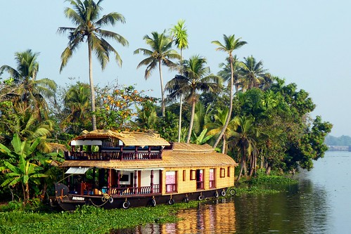 India - Alleppey - Boat Trip - river boat