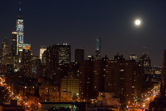 Super Blue Moonset Over Manhattan
