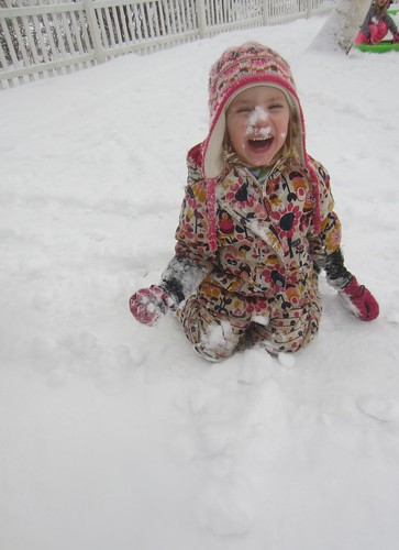 funny snow face