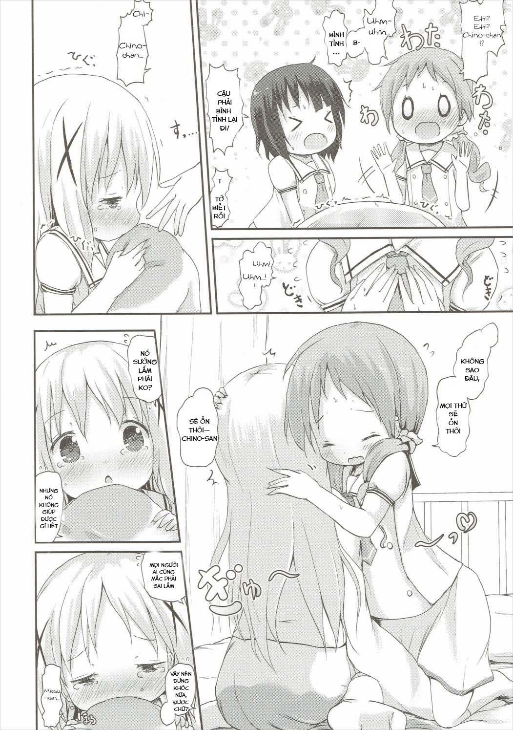 HentaiVN.net - Ảnh 19 - Moshikashite, Chino-chan Onesho Shichatta no?? 2 (Gochuumon wa Usagi desu ka?) - Oneshot