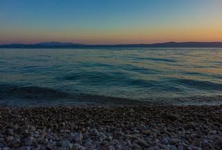 Peaceful sea at Makarska