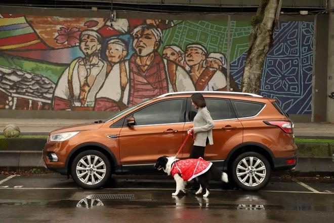【圖三】長距離的旅行對於人和寵物相當消耗體力,因此建議每隔一至兩個小時停車休息一下。下車前,記得給寵物繼上繩子,以免寵物過於興奮而跑遠。