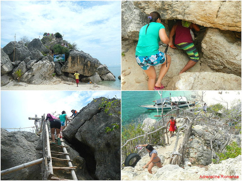 Climbing to the viewdeck of Cabugao Gamay