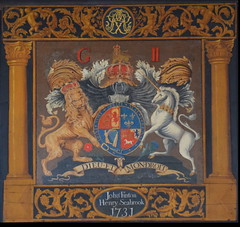 George II royal arms (John Finton, Henry Seabrook 1731)