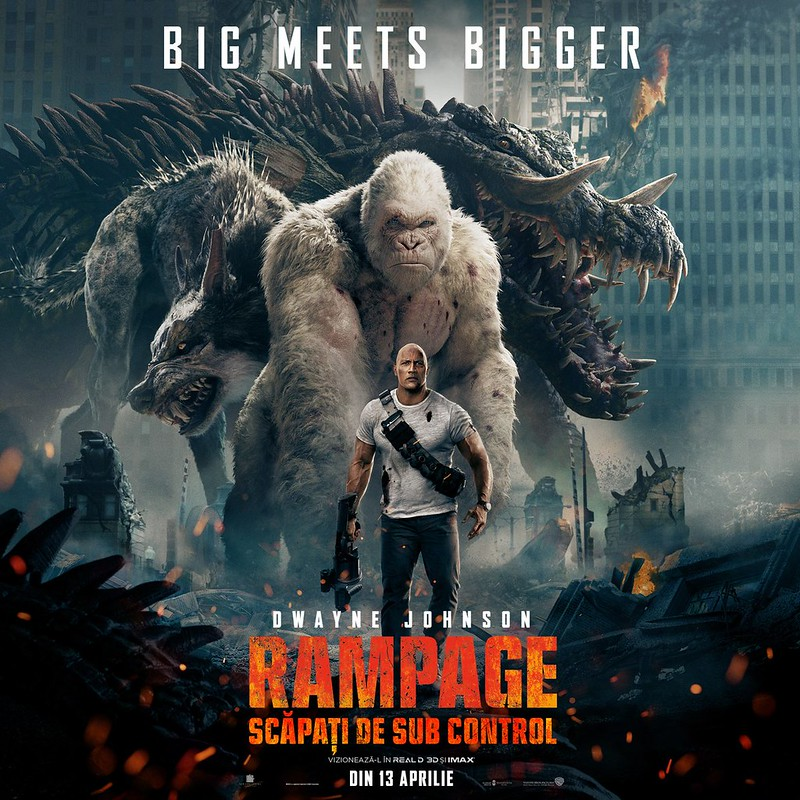RAMPAGE POSTER DWAYNE THE ROCK JOHNSON French