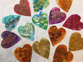 Hearts With Alcohol Inks