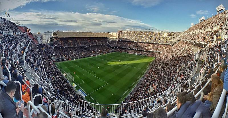 Panorama Estadio de Mestalla in Valencia