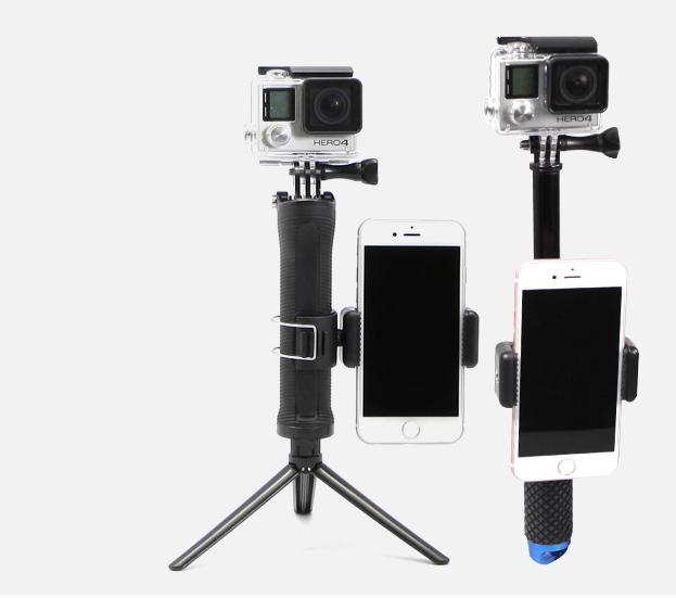 Kẹp điện thoại gắn lên gậy selfie Monopod để điều chỉnh Wifi cho GoPro Hero