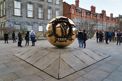 SPHERE WITHIN SPHERE [OUTSIDE THE BERKELEY LIBRARY IN TRINITY COLLEGE DUBLIN]-136952