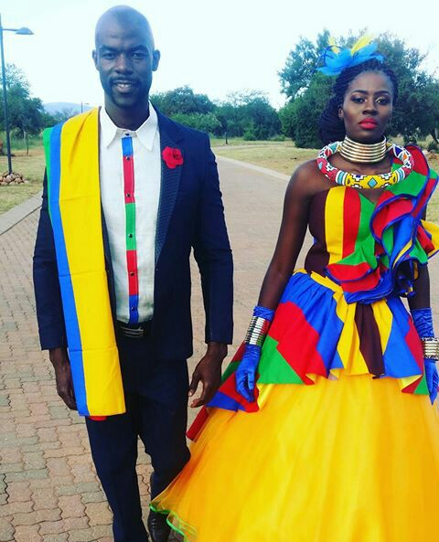 Modern Ndebele Traditional Weddign Dresses Pictures