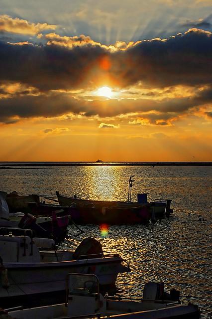 Coucher de soleil à Gallipoli