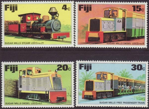 Známky Fidži 1976 Vlaky nerazená séria