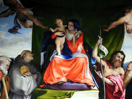 Bergamo - Lorenzo Lotto - Pala con Madonna e Santi nella chiesa di S. Bernardino-