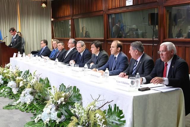 Secretario General del SICA Vinicio Cerezo participa en la toma de posesión del Director General del IICA Manuel Otero