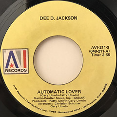 DEE D. JACKSON:AUTOMATIC LOVER(LABEL SIDE-A)