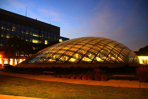 University of Chicago Joe and Rika Mansueto Library Sunset