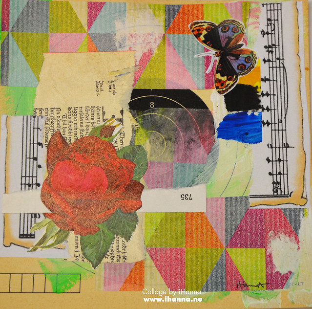 Butterfly Collage : Rose Garden Home by iHanna #365somethings2018 #collage #art