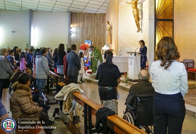 Misa en Honor a La Virgen de la Altagracia en Valencia 2018