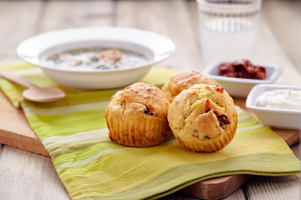 muffin parmigiano pomodori secchi