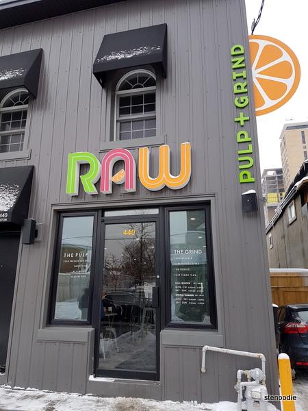RAW Pulp + Grind Ottawa storefront