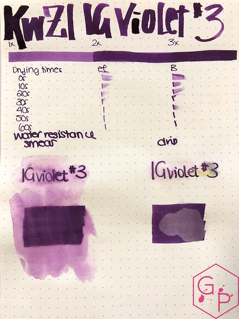 Ink Shot Review KWZI IG Violet #3 @BureauDirect 6