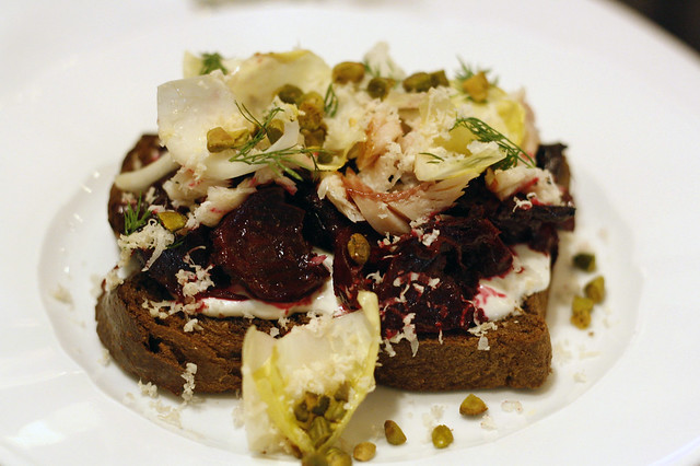 Smashed Beets Toast
