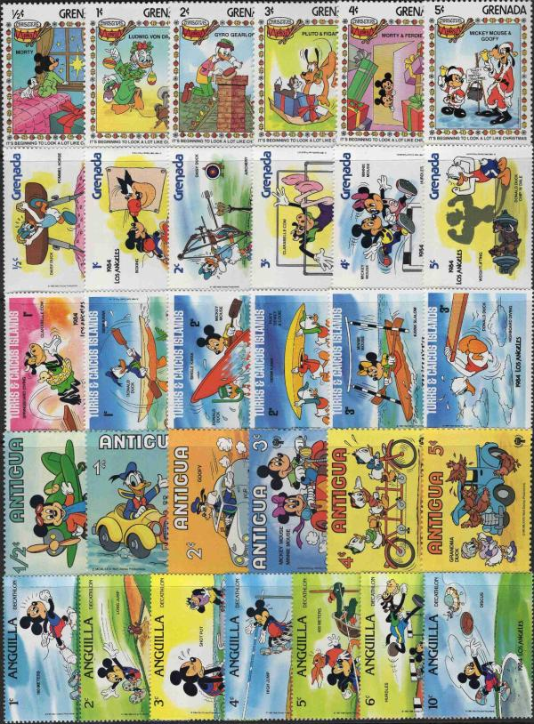 Známky Walt Disney - 31 rôznych MNH sada 7