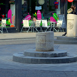 Checking the Fishergate Bollard is still there