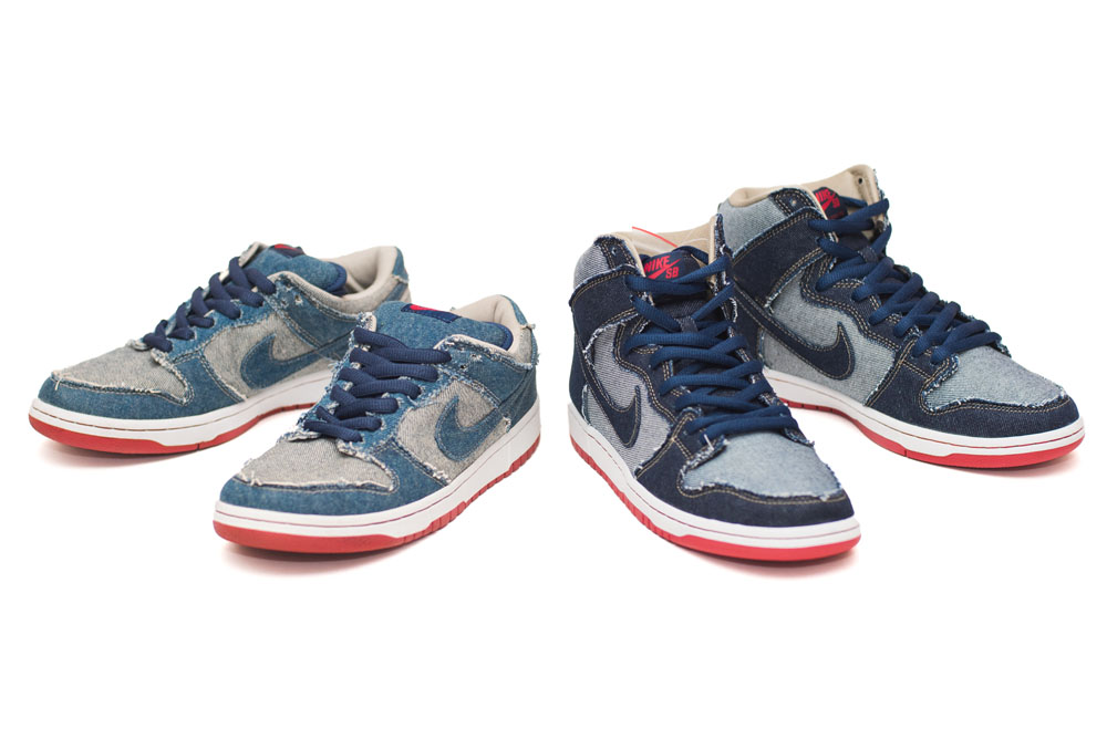2002 & 2017 Reese Forbe Denim Nike Dunk Low & High SB.