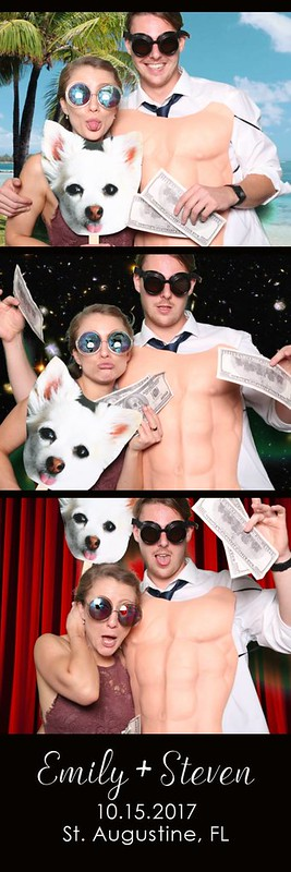white room st. augustine wedding photo booth green screen