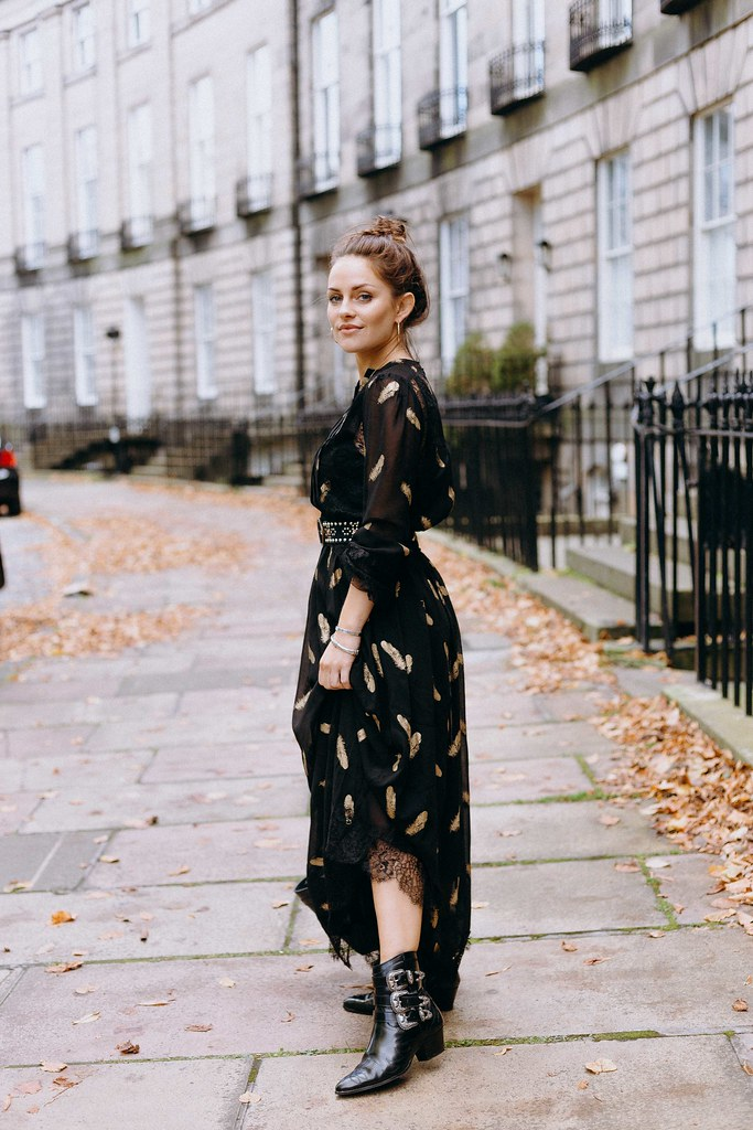 The Little Magpie Kooples Black Maxi Dress