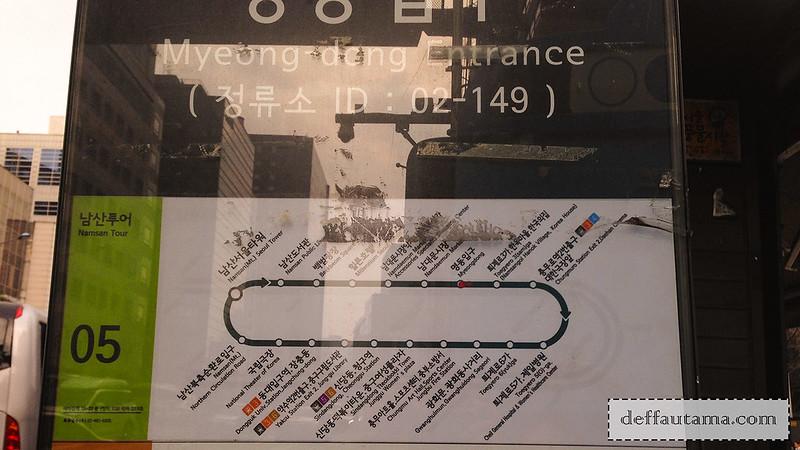 5 hari di Seoul - Namsan Shuttle Bus