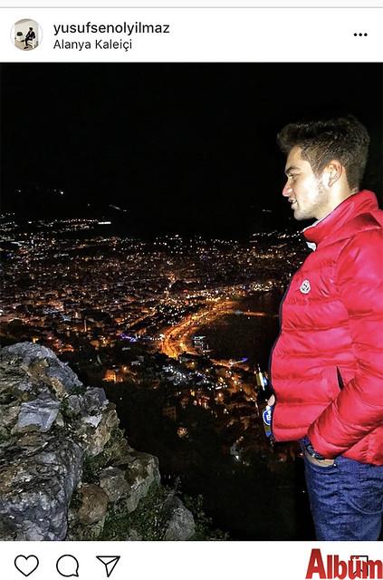 Yusuf Şenol Yılmaz, Alanya Kalesi'nde paylaştığı bu fotoğrafla takipçilerinin beğenisini topladı.