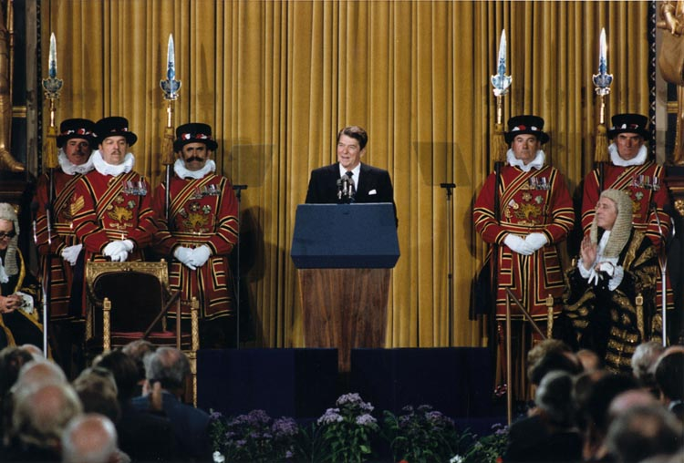 As the first U.S. president invited to speak before the British Parliament (June 8, 1982), Reagan predicted Marxism would end up on the