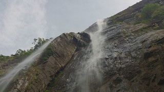 View from the bottom of waterfall
