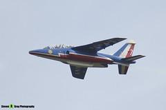 E119 7 F-UGFE - E119 - Patrouille de France - French Air Force - Dassault-Dornier Alpha Jet E - RIAT 2014 Fairford - Steven Gray - IMG_5846