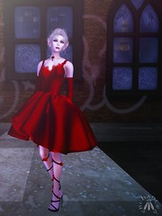 Silvery K: Soiree Beil Dress and Gloves