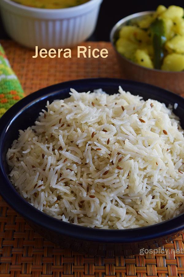 Jeera / Cumin Rice Recipe by GoSpicy.net