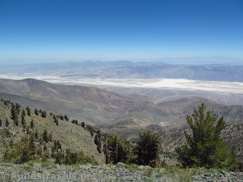 Northeast from Telescope Peak toward the northern end of Death Valley National Park, California