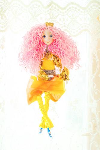 OOAK art doll - OOAK fairy dolls by Chydiki. Fantasy colorful handmade dolls
