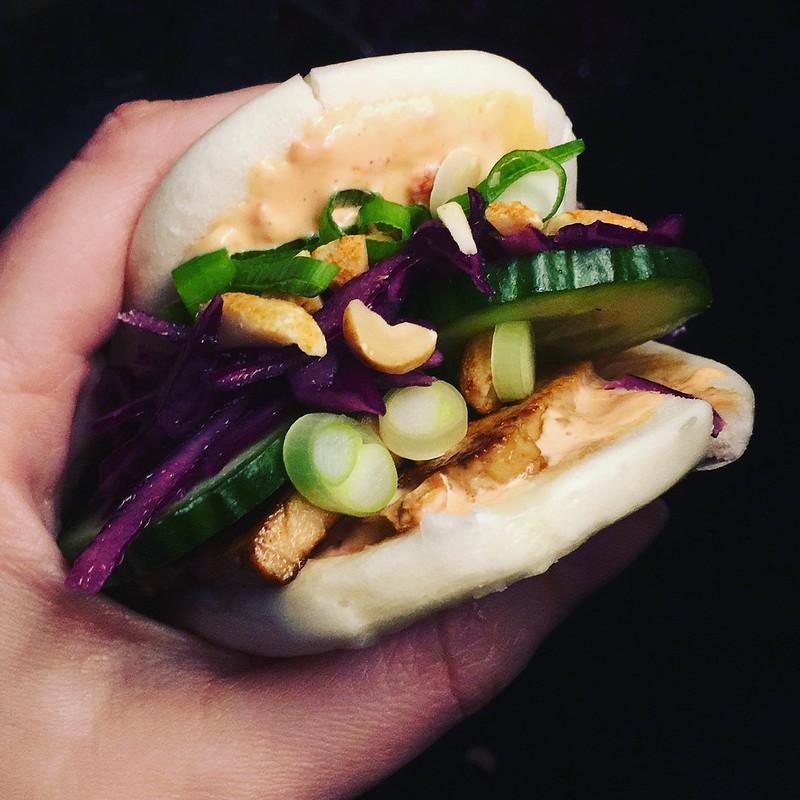 Bao med marinerad tofu