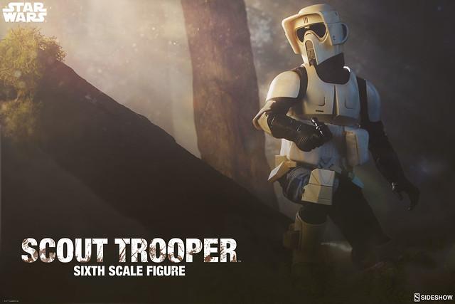 飛速穿梭於恩多星樹海中的帥氣斥侯~! Sideshow Collectibles《星際大戰六部曲:絕地大反攻》帝國偵察兵 Scout Trooper 1/6 比例人偶作品
