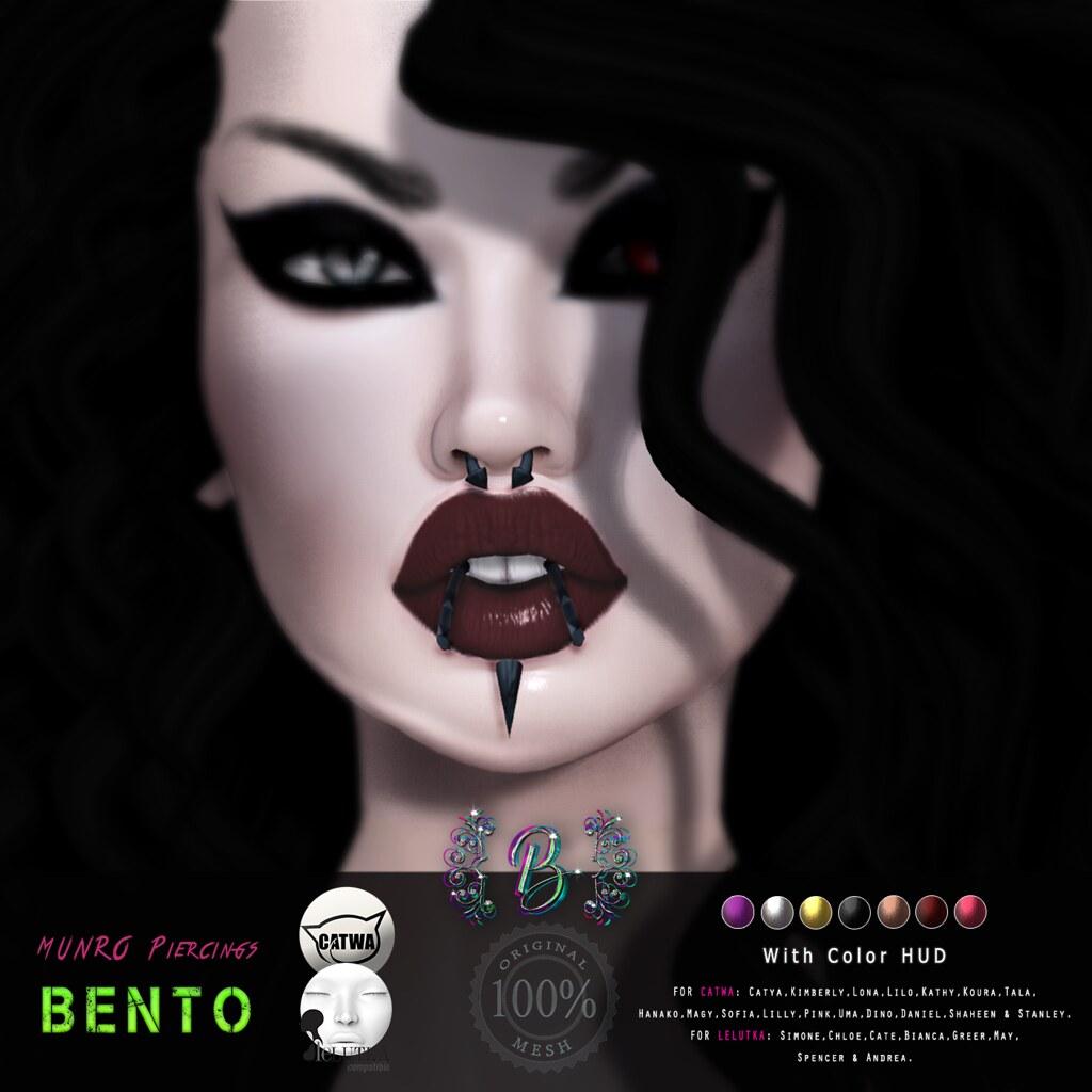 Munro Piercings Bento @ 4Mesh - TeleportHub.com Live!