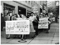 Hit Democrats for support of Mundt bill: 1948