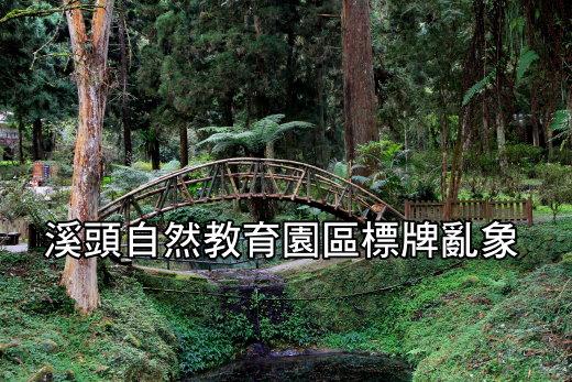 溪頭自然教育園區標牌亂象