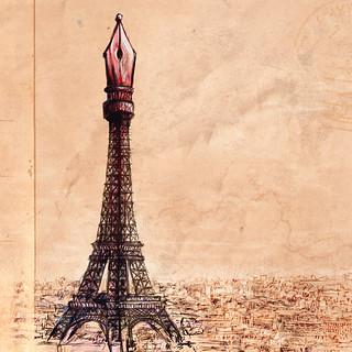 Ilustración y diseño de portada para el libro Cuaderno de París