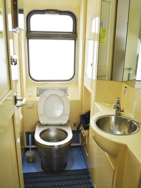 Baño y lavabo del Transiberiano