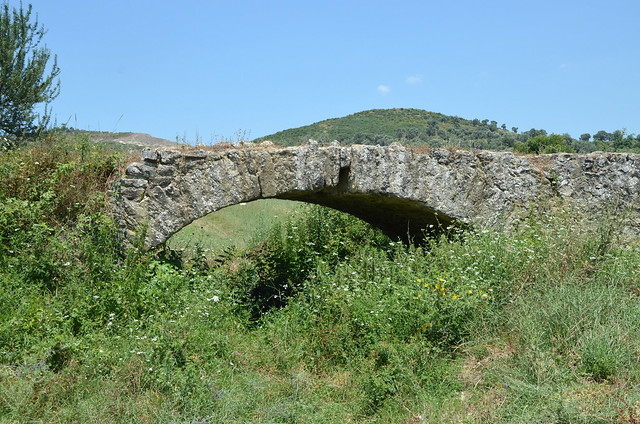 The Via Egnatia near Peqin, Albania
