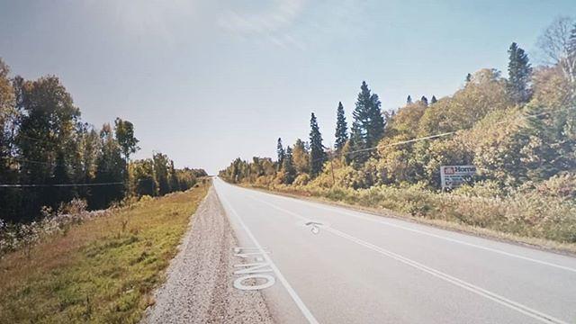 Pull over, swap the hard drive. #ridingthroughwalls #xcanadabikeride #googlestreetview #ontario
